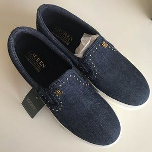 NWT Ralph Lauren Ria Slip On Shoes